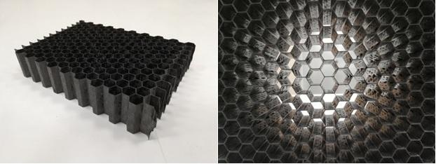 Цианатэфирный углепластиковый сотовый заполнитель для сэндвич панелей производства НИИКАМ